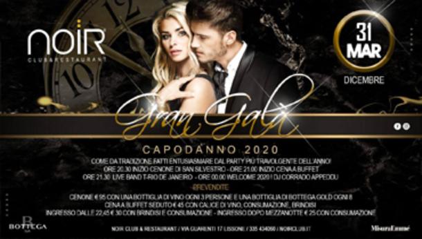 Capodanno 2020 @ Noir Club & Restaurant, Milano