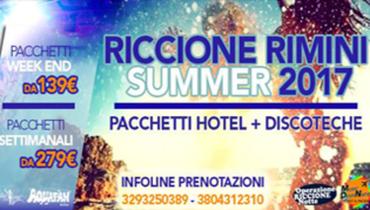 Pacchetti hotel + discoteche Estate 2017