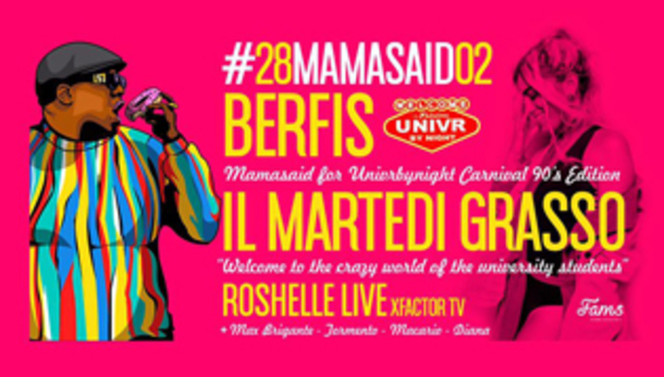 UNIVR Carnival party: Roshelle live @ Berfis Verona!