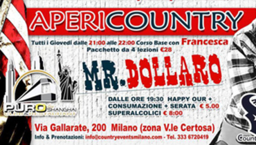 Country Night con Mr. Dollaro al Puro Milano!