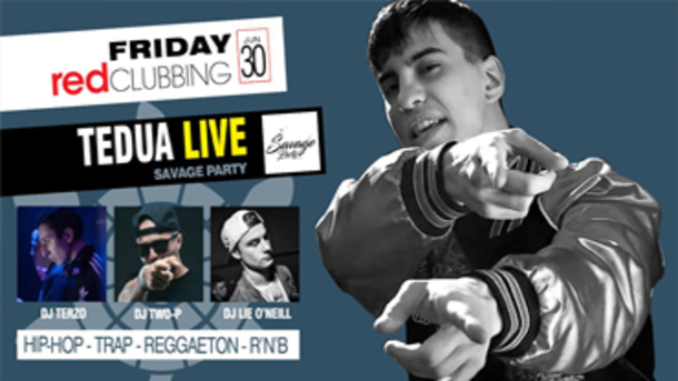 TEDUA live, Savage party alla discoteca Red clubbing