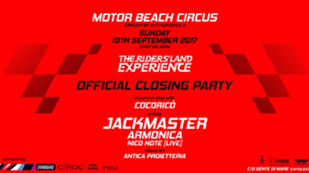 The Riders' Land Experience Closing Party with Jackmaster