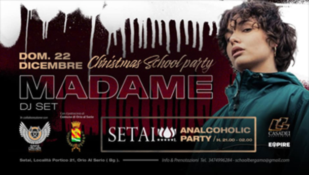 CHRISTMAS SCHOOL PARTY w/ MADAME by Setai Club!