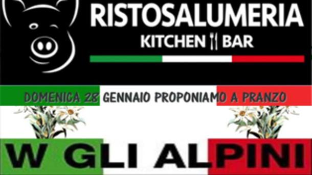 W gli Alpini alla Ristosalumeria a Brescia!