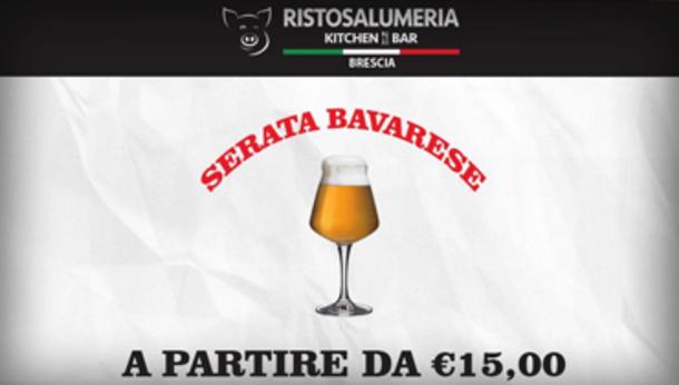 Serata bavarese alla Ristosalumeria di Brescia