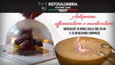 Anteprima affumicatura e mantecatura at Ristosalumeria