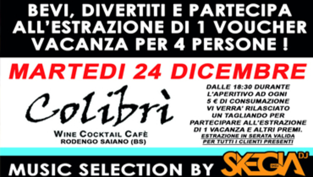Vigilia di Natale 2019 al Colibrì Rodengo Saiano!