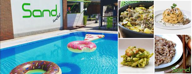 Sand bar, piscina, ristorante a Romanengo