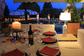 Un tavolo al Ristorante sul terrazzo-piscina della Discoteca Hollywood a Bardolino, Verona